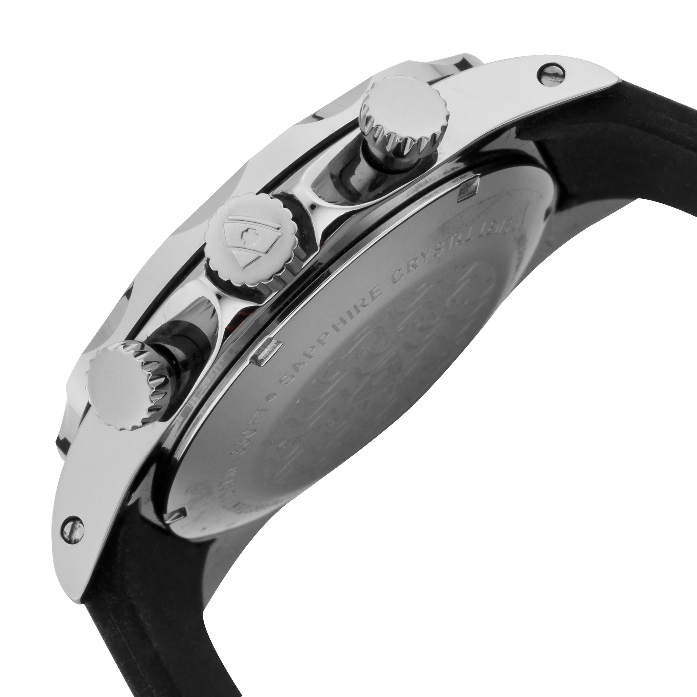 Swiss Legend 瑞士传奇Tungsten系列钨圆形黑色硅胶石英机芯男士手表 SL-18010-06