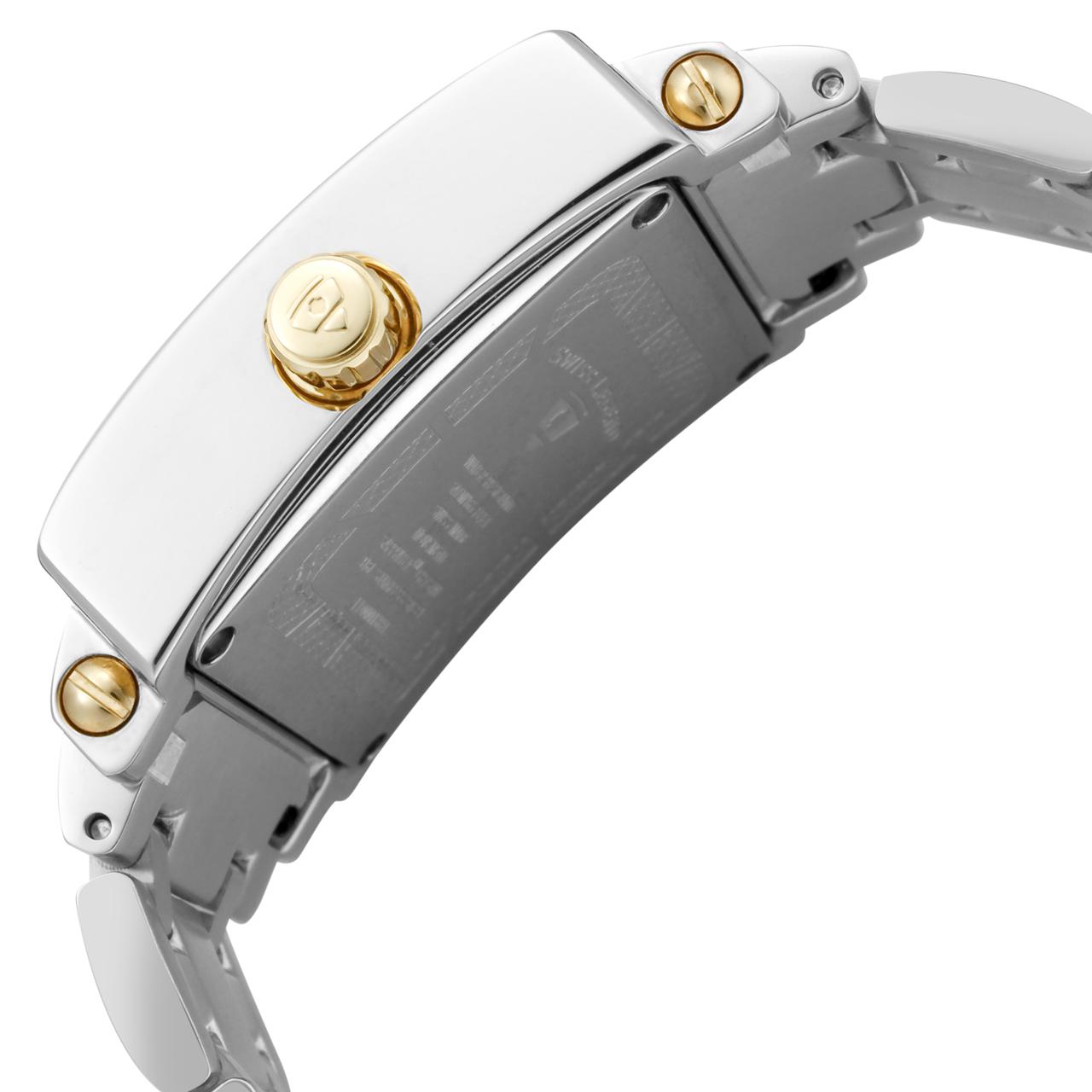 Swiss Legend 瑞士传奇Colosso系列不锈钢方形银色和金色石英机芯女士手表 SL-20024-SG-02MOP