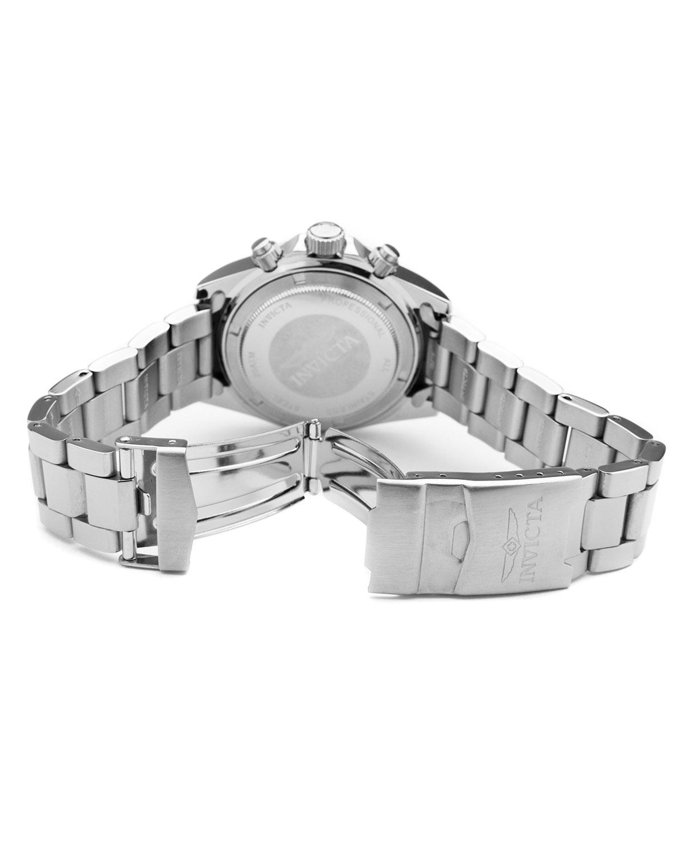 Invicta 因维克塔Speedway系列不锈钢圆形银色石英机芯男士手表 INVICTA-17025