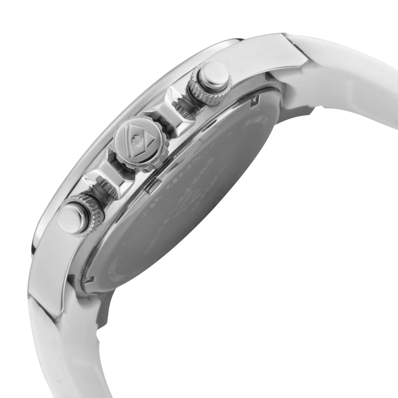 Swiss Legend 瑞士传奇Eograph系列不锈钢圆形白色石英机芯男士手表 SL-30041-02-BLA