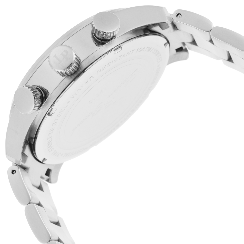Lucien Piccard 卢森皮卡尔Avalon系列不锈钢圆形银色石英机芯男士手表 LP-13013-22S