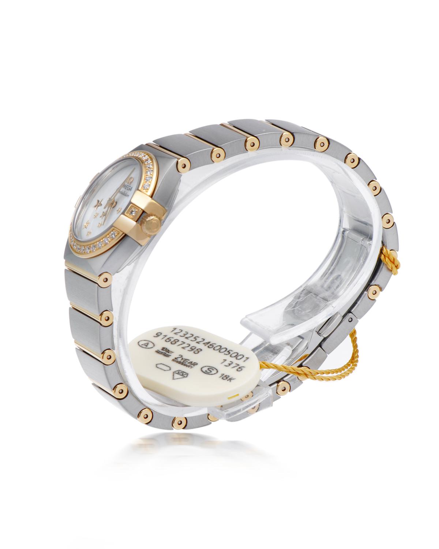 瑞士 Omega 欧米茄 优雅金色星座系列重工镶钻宴会款豪华石英女士钢表 123.25.24.60.05.001