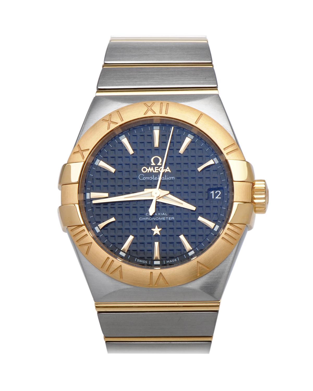 瑞士 Omega 欧米茄 星座系列 自动机械Cal.850018K黄金和精钢金色男士手表 123.20.38.21.01.002