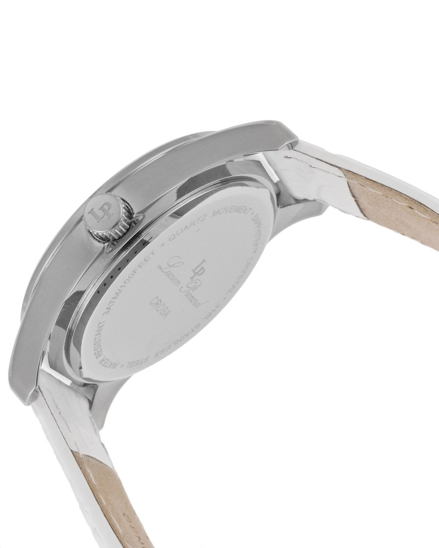 Lucien Piccard 卢森皮卡尔 Crosa系列不锈钢圆形白色石英女表 LP-12721-02-WHT