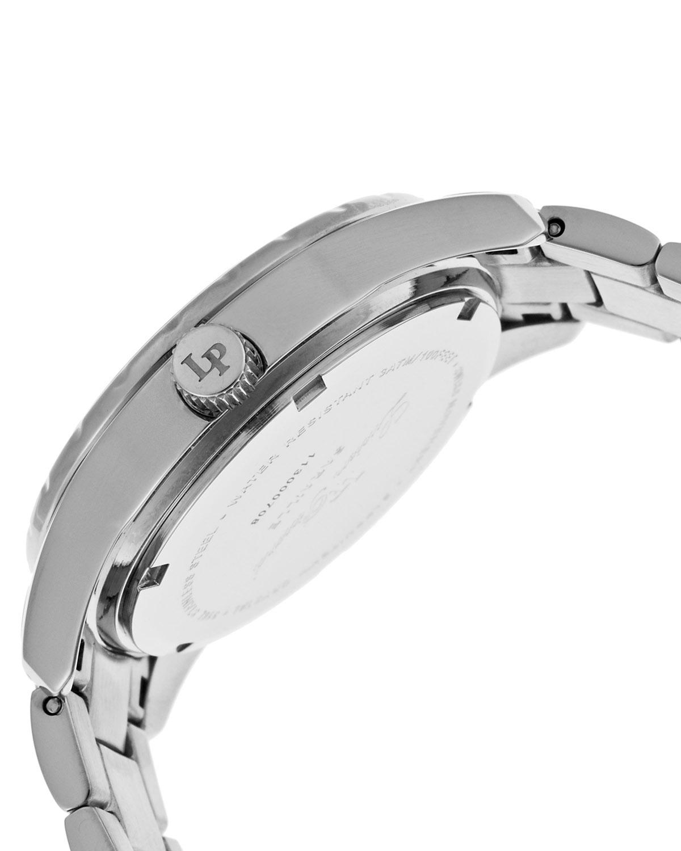 【优雅必购】Lucien Piccard 卢森皮卡尔Saraille系列不锈钢圆形银色石英机芯女士手表 LP-12741-22-WCB