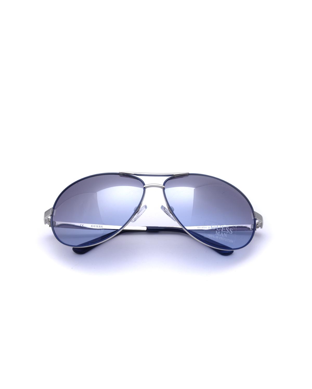 美式潮牌 Guess 盖尔斯 时尚男士飞行员太阳眼镜 GU6744-SI33F