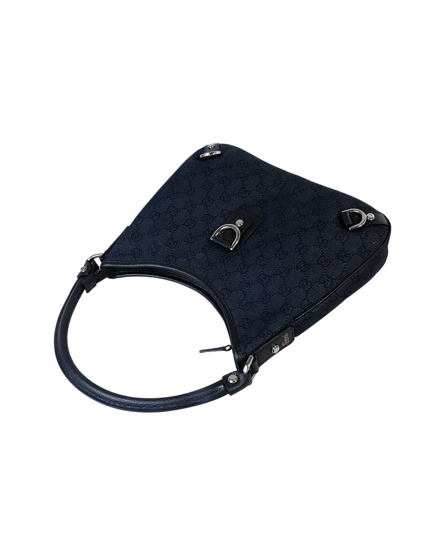 意大利 Gucci 古驰 优雅黑经典钻石纹阔太必备时尚帆布女士手拎包