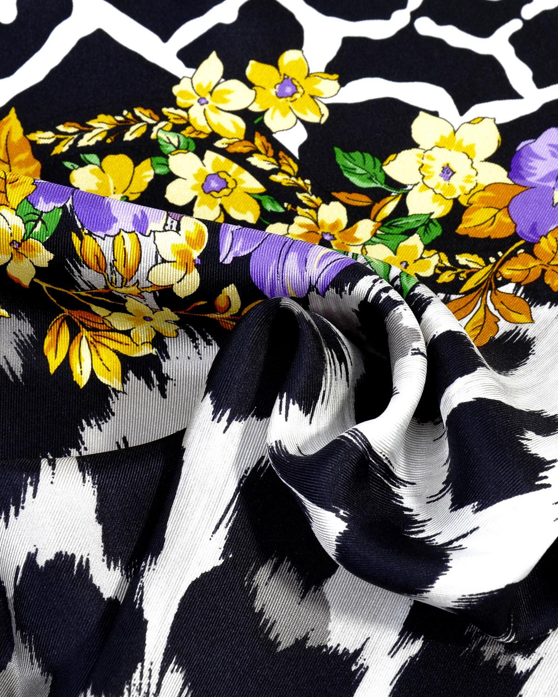 意大利 Versace 范思哲 花色豹纹秋冬必备真时尚女士真丝丝巾