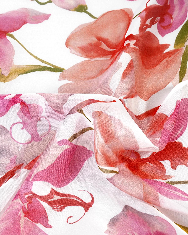 意大利 Valentino 华伦天奴 优雅粉色印花秋冬必备时尚女士真丝丝巾