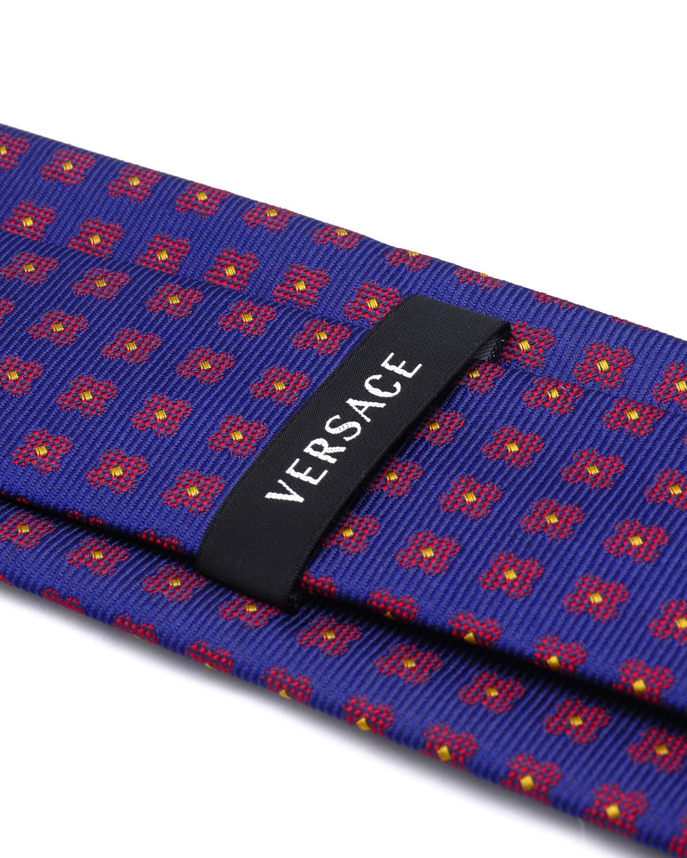 【新用户专享】意大利 Versace 范思哲 绅士品质紫色格纹真丝男士商务领带