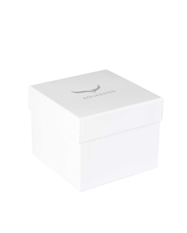 Aquaswiss 瑞士水绿316L精钢白色硅胶中性瑞士石英手表 62LD2401