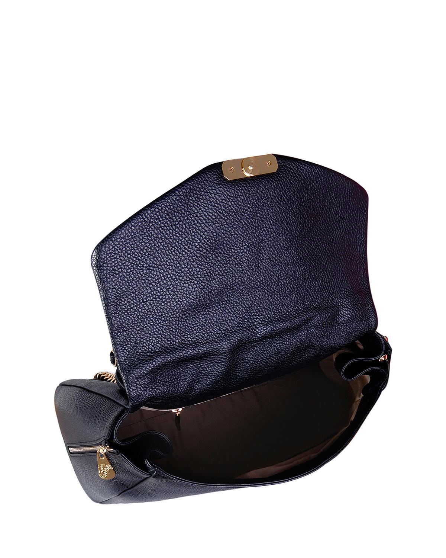 意大利 Versace 范思哲 经典黑商务休闲时尚百搭牛皮手提单肩包