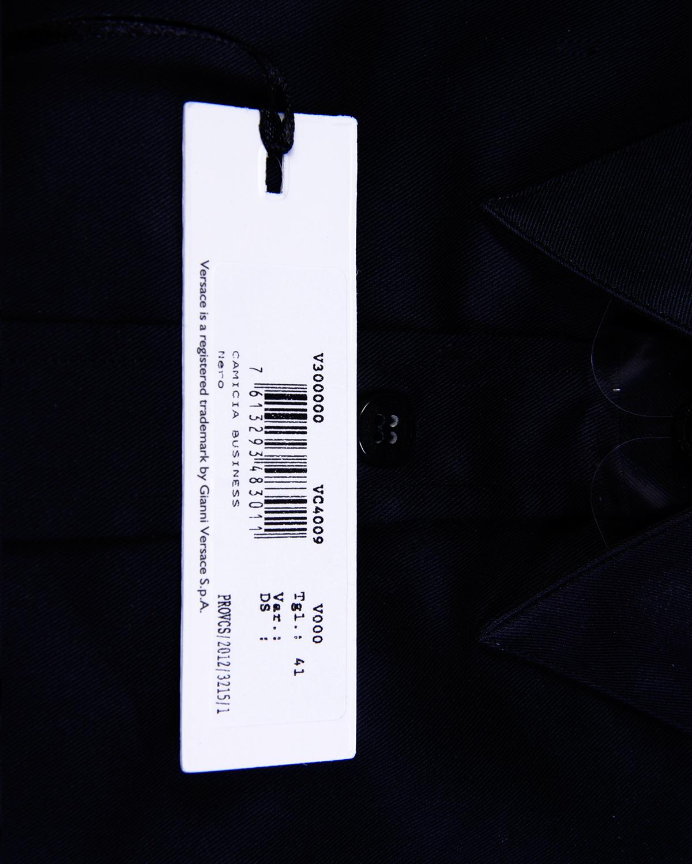 意大利 Versace 范思哲黑色男士商务休闲纯棉长袖衬衫