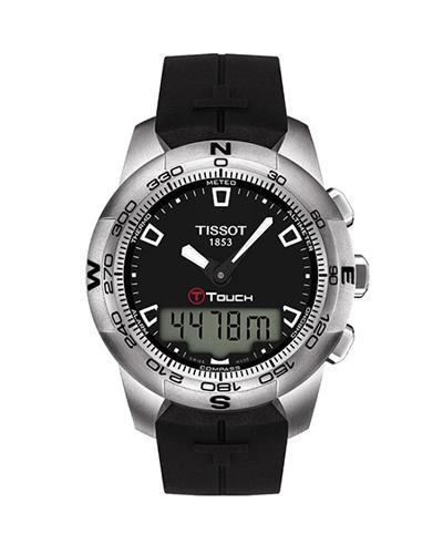 瑞士名表 Tissot 天梭 T-Touch II系列男士石英腕表 T047.420.17.051.00