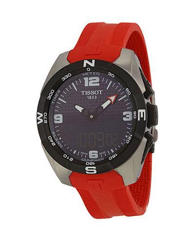 瑞士名表 Tissot 天梭 腾智系列运动男士防水橡胶表带石英表 T091.420.47.057.00