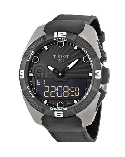 瑞士名表 Tissot 天梭 腾智系列男士太阳能多功能2014限量版石英腕表 T091.420.46.061.00