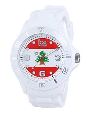 Ice Watch 比利时手表Ice-World系列限量世界杯纪念国旗表黎巴嫩夜光防水石英女表 WO.LB.S.S.12