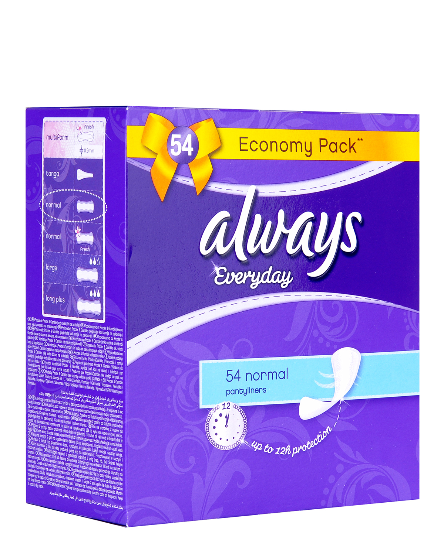 德版护舒宝 Always 欧薇 无香型标准版抗敏护垫 54片/包 L15cm 两包装