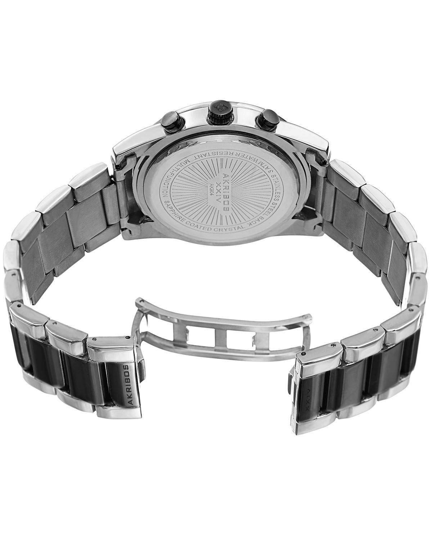 Akribos XXIV 阿克波斯 精钢合金表链男士休闲石英腕表
