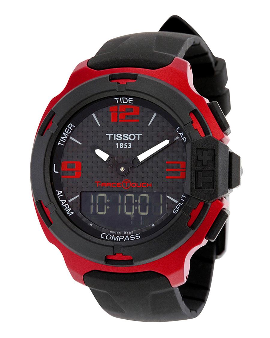 瑞士名表 Tissot 天梭 竞速系列运动计时硅带铝盘男士石英腕表T081.420.97.207.00