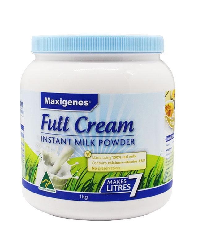 【澳洲直邮】澳大利亚 Maxigenes 美可卓(蓝胖子) 高钙成人全脂奶粉1kg 3罐装