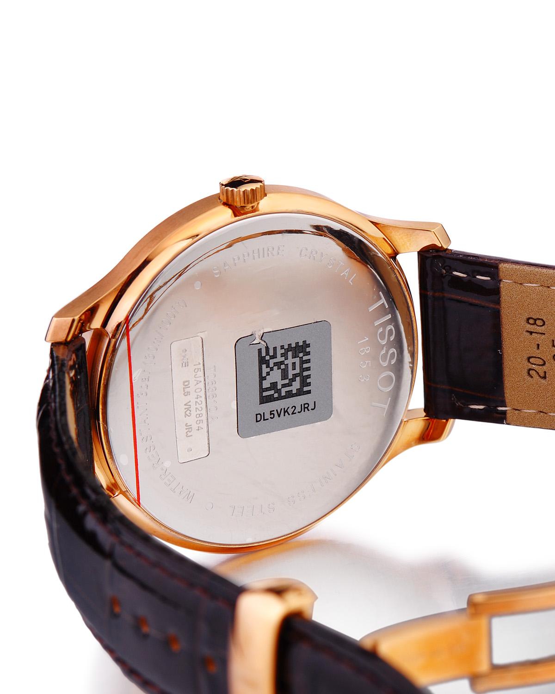 瑞士名表 Tissot 天梭 俊雅系列棕色经典怀旧石英男表T063.610.36.297.00