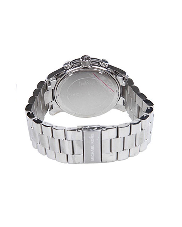 Michael Kors 迈克高仕圆形表盘指针式三眼计时石英男士手表 MK8086