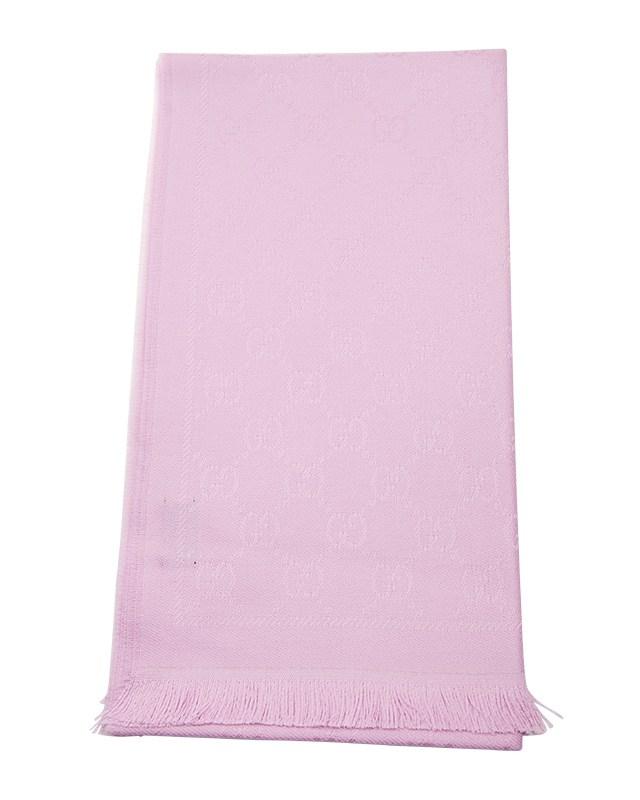 意大利 GUCCI 古驰 粉色羊毛女士围巾 1334833G2005900