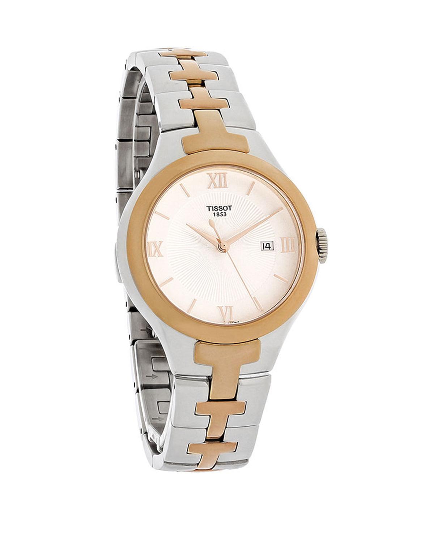 瑞士名表 Tissot 天梭 双色表带罗马刻度女士石英腕表T082.210.22.038.00