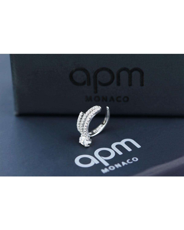 APM Monaco 925银镶晶钻辉煌耳夹(单只)