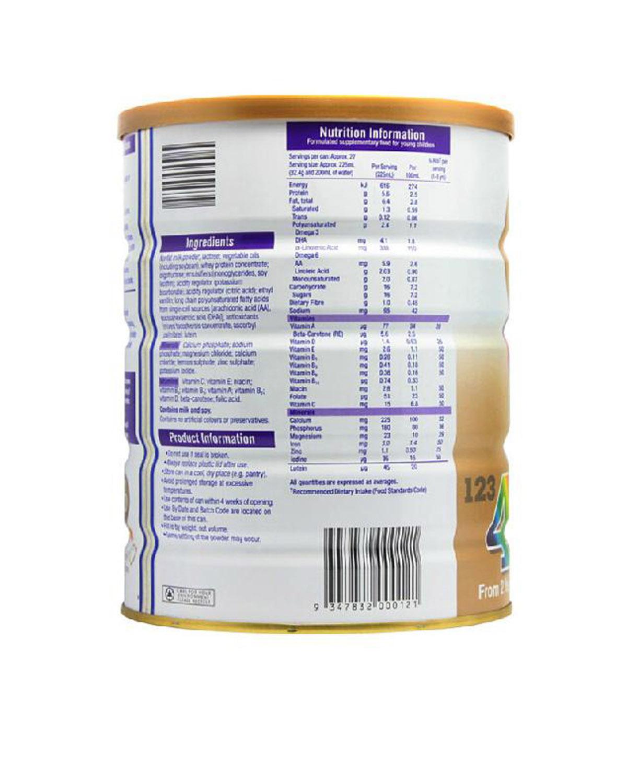 澳洲惠氏S26金装新生婴儿牛奶粉4段 2岁以上宝宝 900g 2罐装