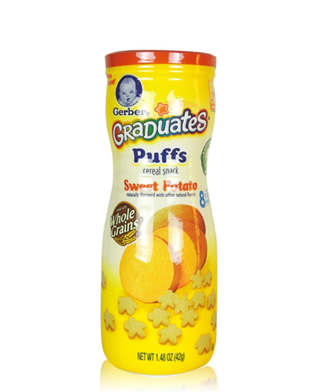 美国 Gerber 嘉宝 番薯口味星星泡芙 42g