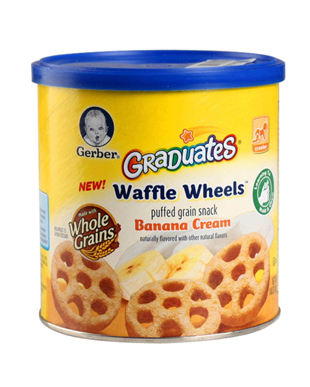 美国 Gerber 嘉宝 香蕉奶油车轮泡芙 42g