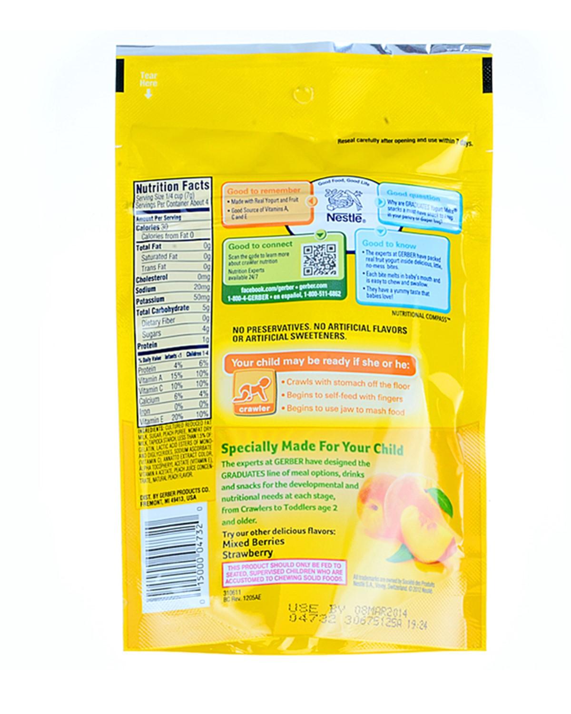 美国 Gerber 嘉宝 黄桃酸奶溶溶豆 28g 6件装