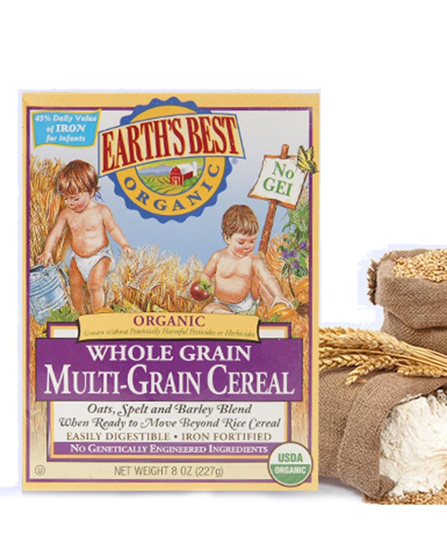 美国 Earth's Best 地球最好混合谷物米粉糊3段 227g 保质期到2019-02-16