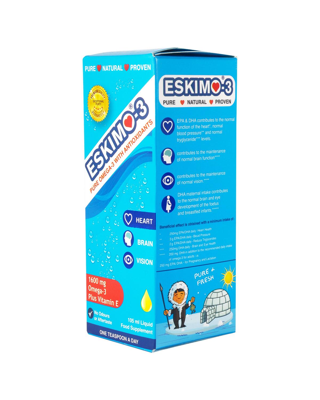 瑞典 Eskimo-3 鱼肝油 1600mg 105ml