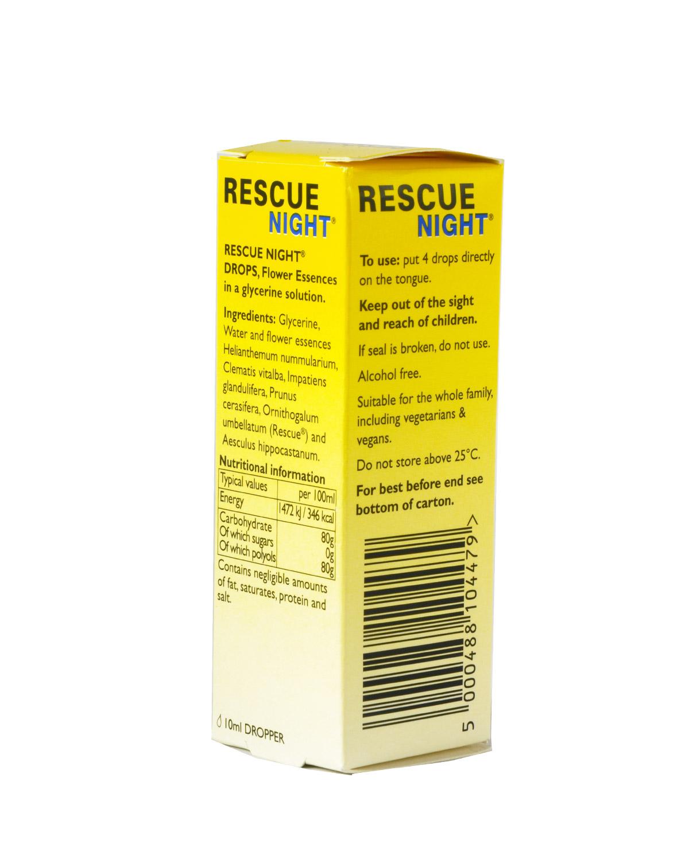 英国 Rescue Night 巴赫花香精 有机花精疗法助眠缓解疲劳 10ml