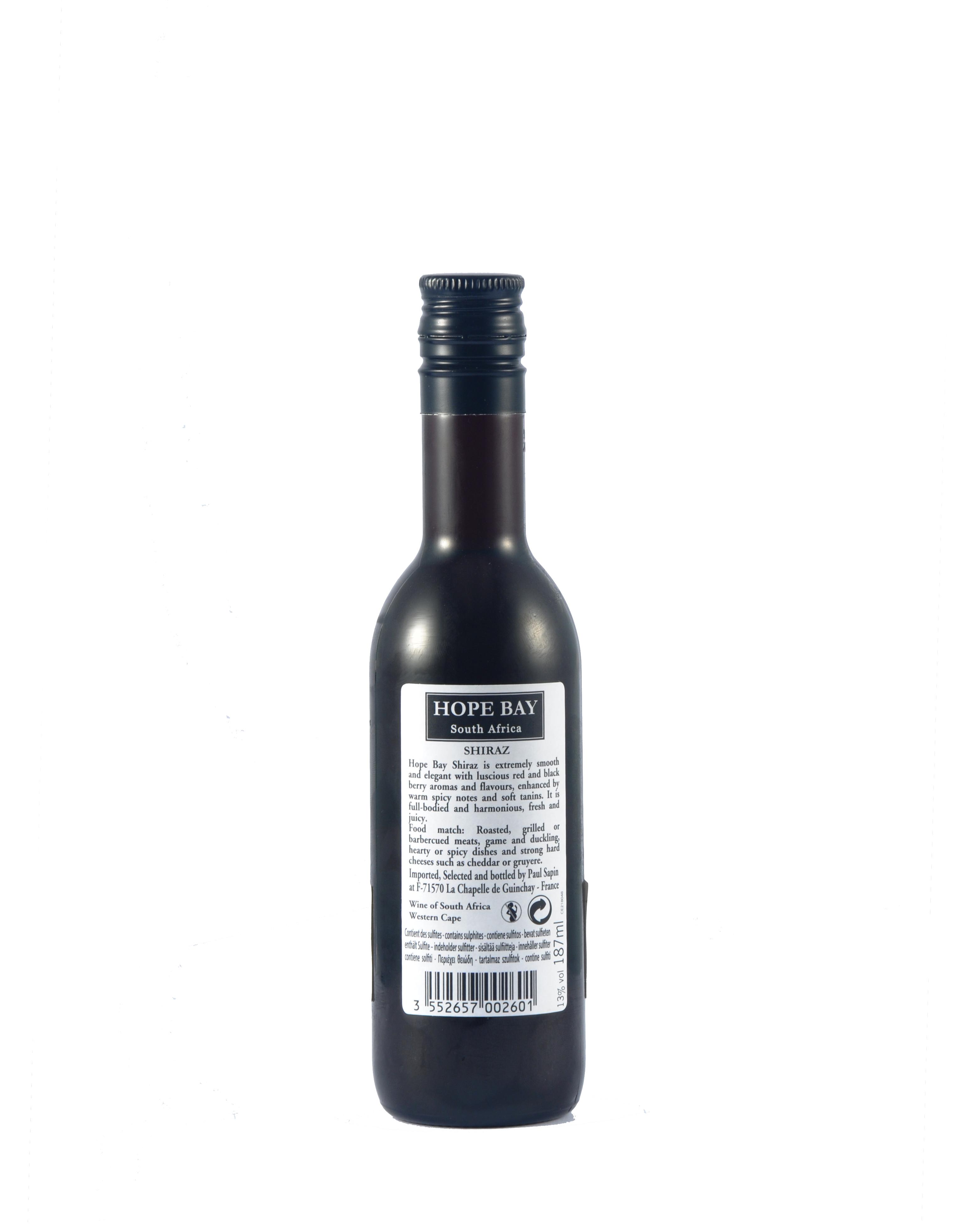 南非 African South Hope Bay Shiraz 南非霍普贝设拉子红葡萄酒 187ml 13%Vol