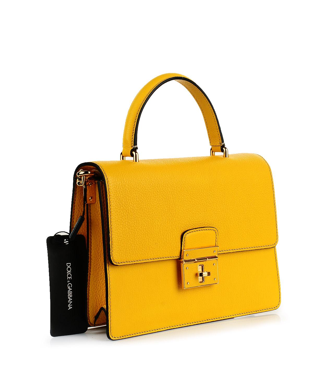 意大利 Dolce&Gabbana 杜嘉班纳D&G黄色真皮女士风琴包 BB5841 AC177 80210