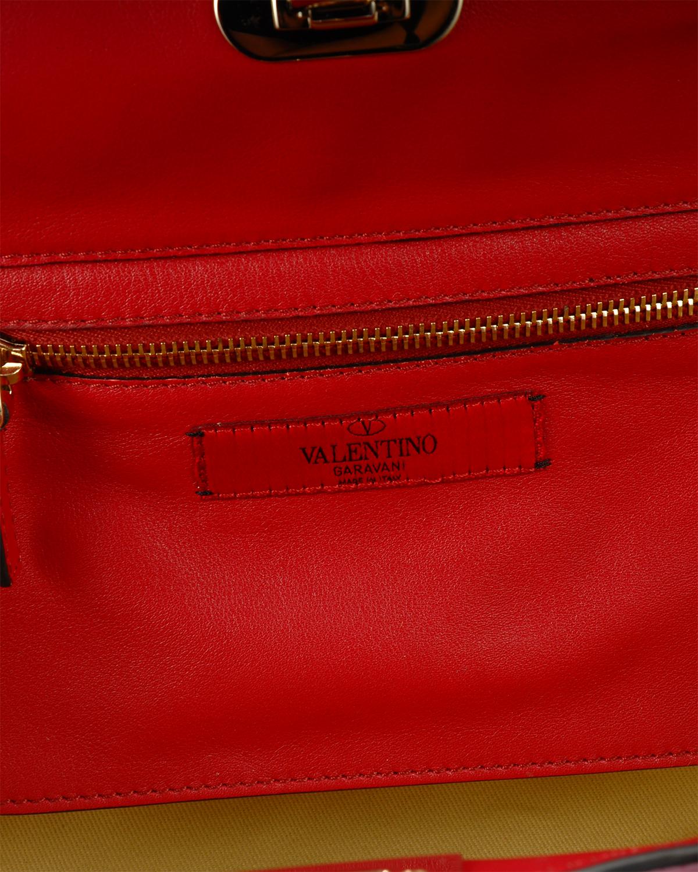 意大利 Valentino华伦天奴 红色铆钉 时尚酷炫女包 IW2B0037BOL L43