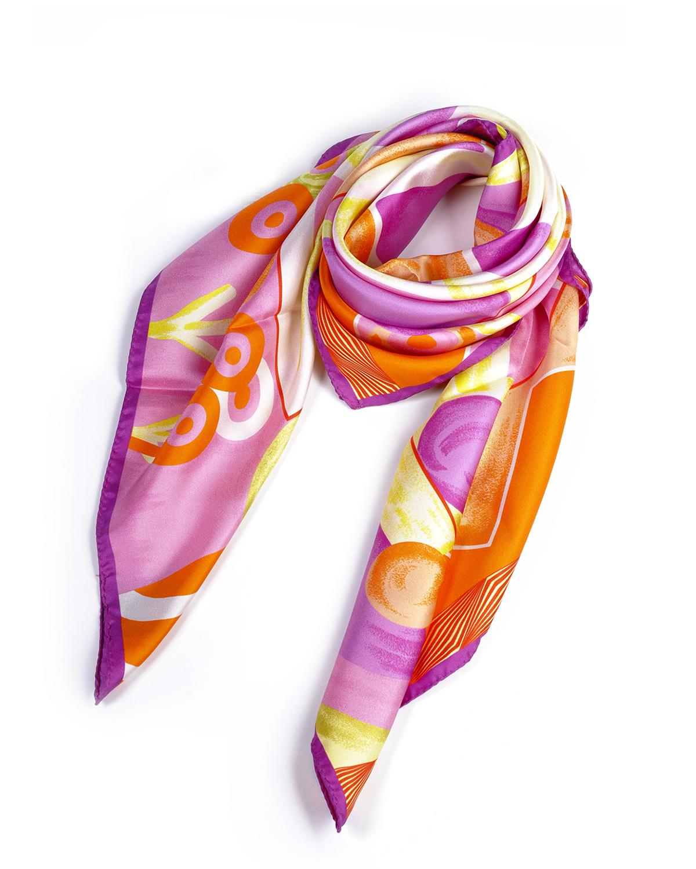 意大利 Versace 范思哲 浪漫花色名媛必备多用女士真丝丝巾