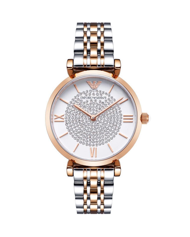 Armani 阿玛尼时尚潮流双色不锈钢镶钻女士手表 AR1926