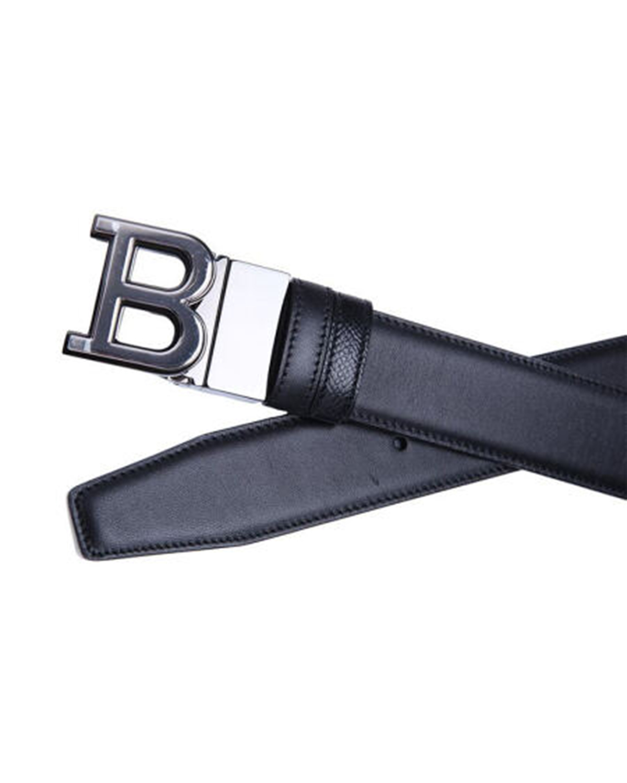 瑞士Bally巴利 黑色真皮男士B字头logo腰带 6206133-110