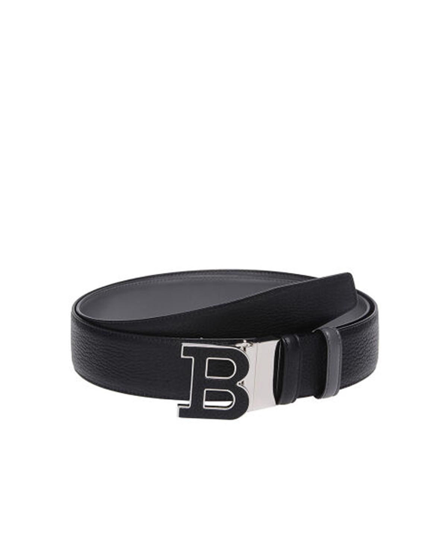 瑞士Bally巴利 黑色男士牛皮B字头logo双面双用板扣式腰带6206399 110