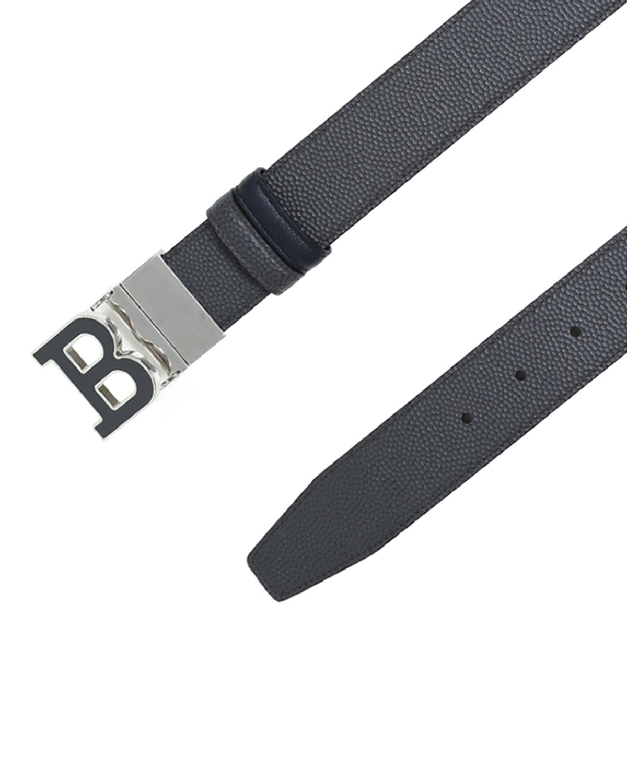 瑞士Bally巴利 蓝色真皮男士B字头logo腰带 6206122-110