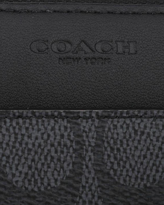 美国Coach蔻驰 灰黑色真皮logo印花男士长款钱包58426-CHR