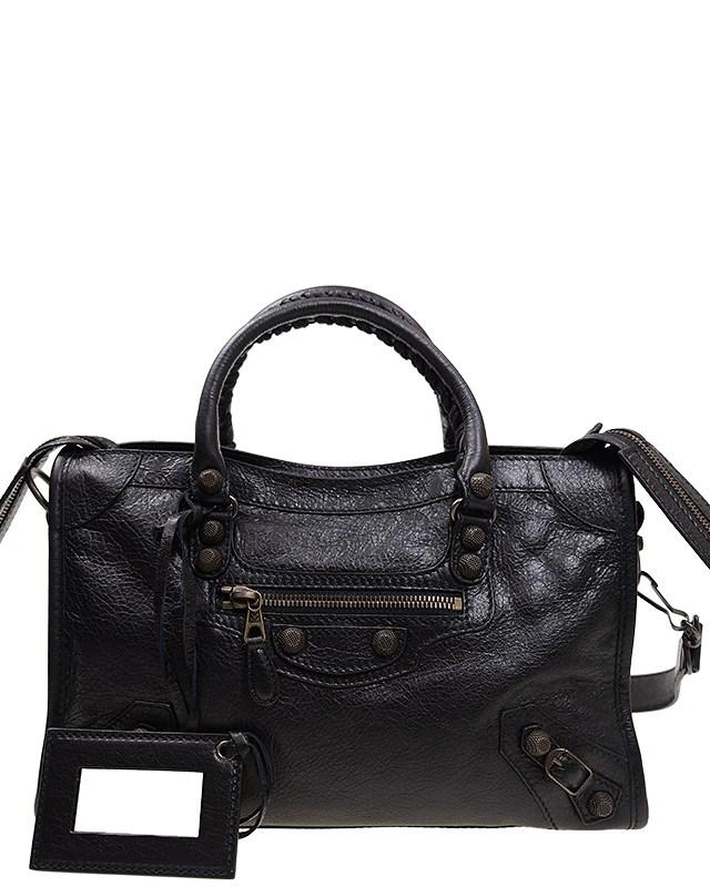 法国 BALENCIAGA 巴黎世家 黑色羊皮经典女士手提包 433335 D94JT 1000