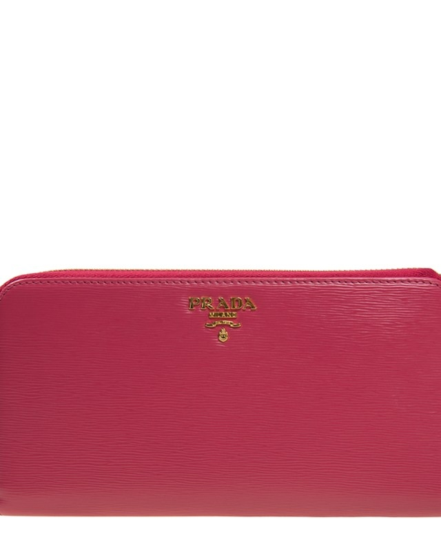 意大利 PRADA 普拉达 粉红色牛皮长款拉链女士钱包 1ML506 2EZZ F0505