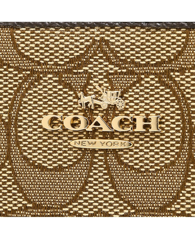 美国Coach蔻驰 卡其色帆布logo女士长款手拿钱包58058-LIC7C
