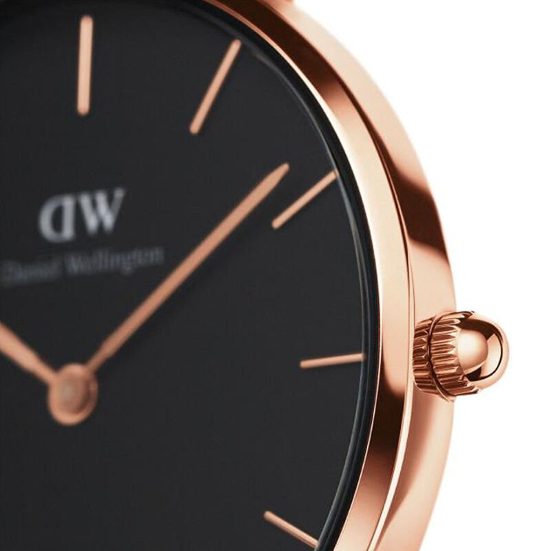 瑞典原装进口 Daniel Wellington 丹尼尔惠灵顿 32mm金色边金属表带女士石英表 DW00100161